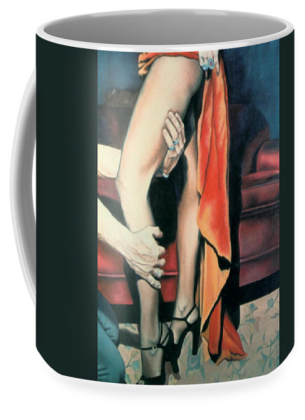 Feminine Coffee Mug featuring the painting After The Ball by Mary Ann Leitch
