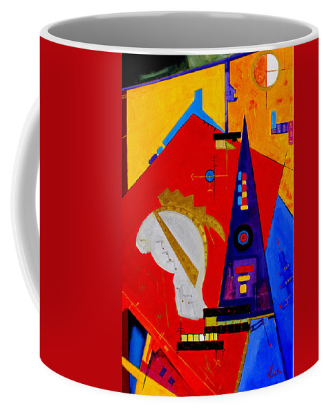 Abstract Coffee Mug featuring the painting After The Romans by Miroslav Stojkovic -Miro