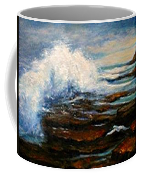 Seascape Coffee Mug featuring the painting After The Storm by Gail Kirtz
