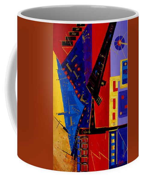 Abstract Coffee Mug featuring the painting After Them ... by Miroslav Stojkovic - Miro