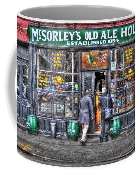 Mcsorley's Old Ale House Coffee Mug featuring the photograph Afternoon At Mcsorley's by Randy Aveille