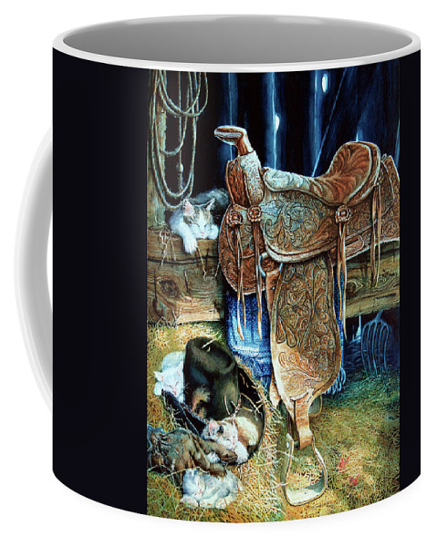 Saddle Coffee Mug featuring the painting Afternoon Delight by Hanne Lore Koehler
