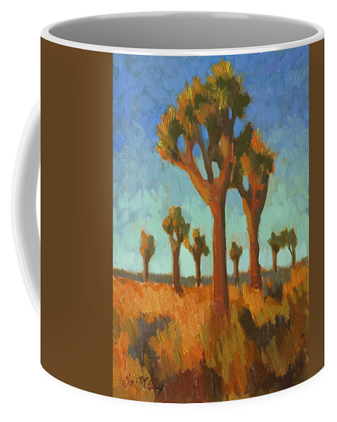 Afternoon Light Coffee Mug featuring the painting Afternoon Light At Joshua Tree by Diane McClary
