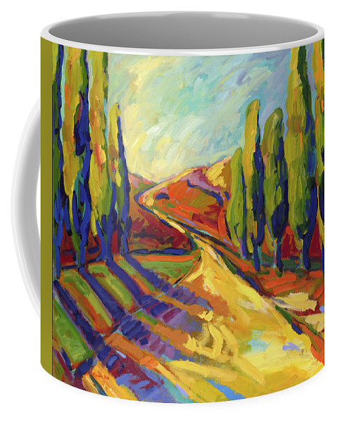 Landscapes Coffee Mug featuring the painting Afternoon Shadows by Konnie Kim