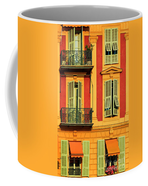 Cote D\'azur Coffee Mug featuring the photograph Afternoon Windows by Inge Johnsson