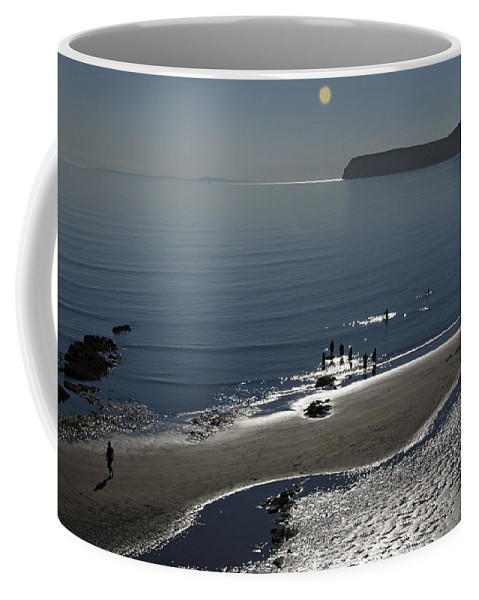 Britain Coffee Mug featuring the photograph Against The Light - Compton Bay by Rod Johnson