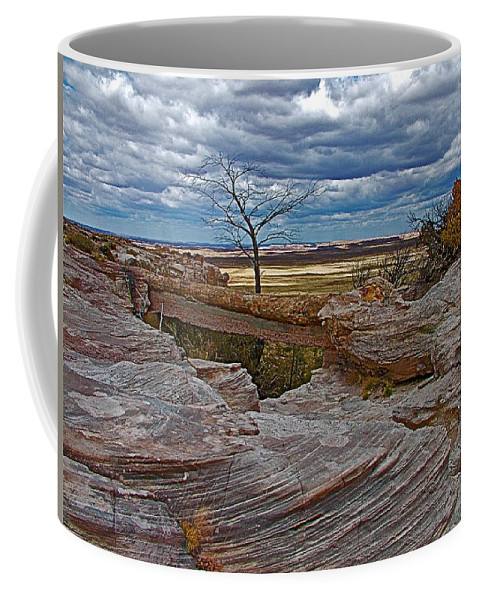 Agate Bridge In Petrified Forest National Park Coffee Mug featuring the photograph Agate Bridge In Petrified Forest National Park-arizona by Ruth Hager