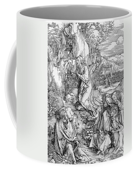 Print Coffee Mug featuring the painting Agony In The Garden From The 'great Passion' Series by Albrecht Duerer
