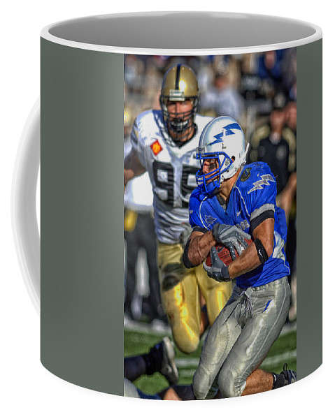 Usaf Academy Coffee Mug featuring the photograph Air Force Battles Army by Mountain Dreams