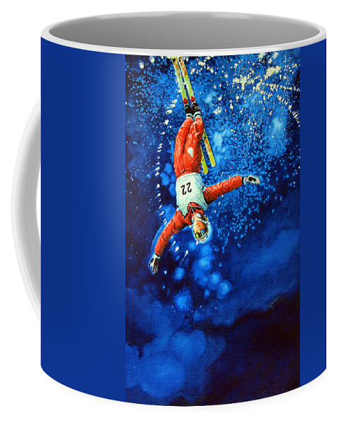 Sports Art Coffee Mug featuring the painting Air Force by Hanne Lore Koehler
