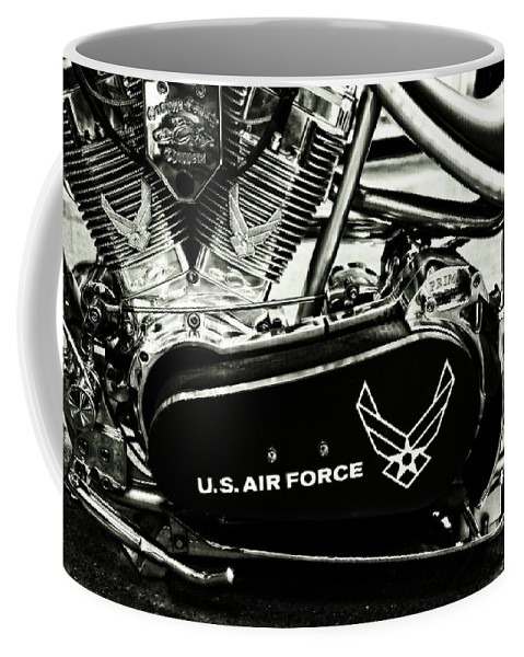 Air Force Motorcycle Coffee Mug featuring the photograph Air Force Motorcycle by Dan Sproul