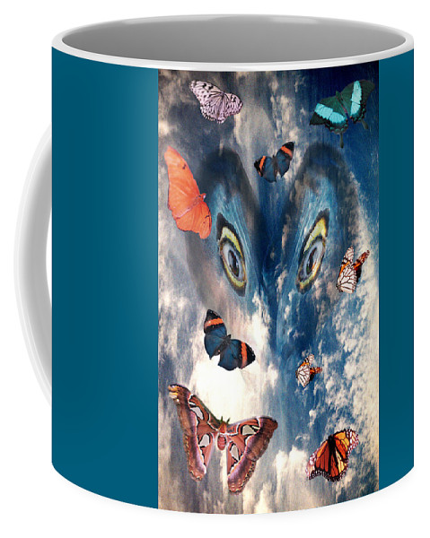 Air Coffee Mug featuring the digital art Air by Lisa Yount