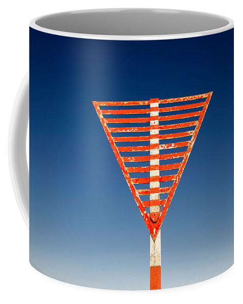 Airfield Coffee Mug featuring the photograph Airport Sign by Steve Ball