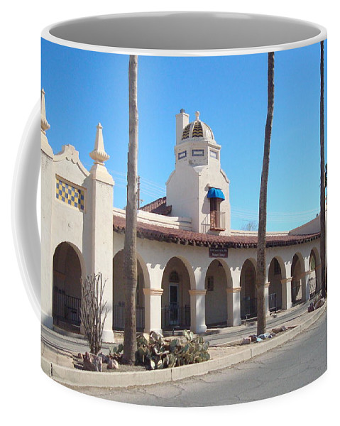 Plaza Coffee Mug featuring the photograph Ajo Plaza by Susan Woodward