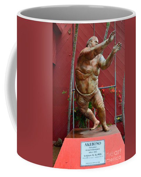 Sumo Wrestlers Coffee Mug featuring the photograph Akebono by Mary Deal