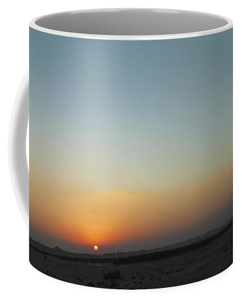 Sunset Coffee Mug featuring the photograph Al Ain Desert 2 by Mario MJ Perron