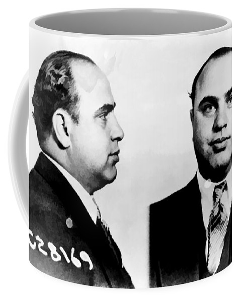Black Coffee Mug featuring the photograph Al Capone Mug Shot by Edward Fielding