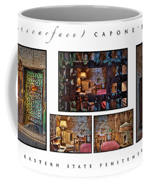 Al Capone Coffee Mug featuring the photograph Al Scarface Capone's Cell by Susan Candelario
