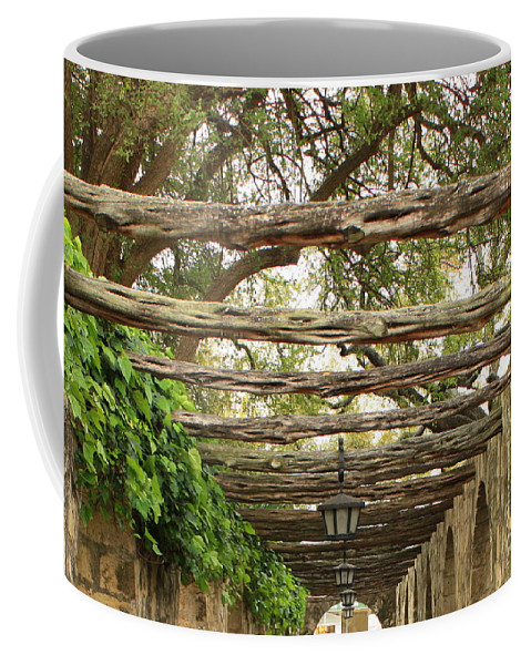 Alamo Walkway Coffee Mug featuring the photograph Alamo Walkway by Carol Groenen