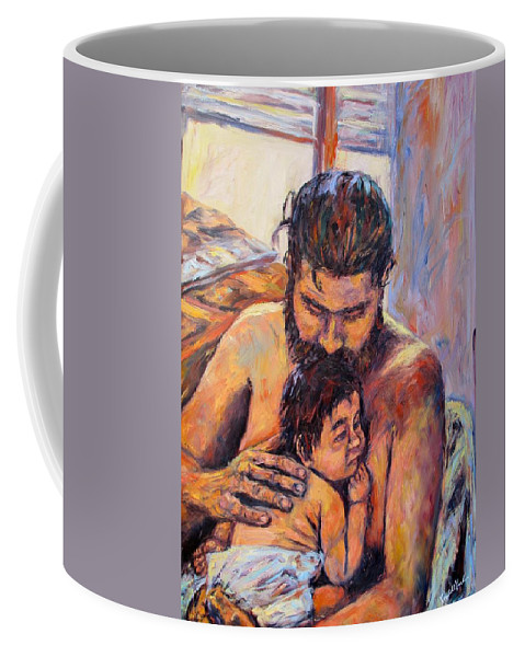 Kendall Kessler Coffee Mug featuring the painting Alan And Clyde by Kendall Kessler