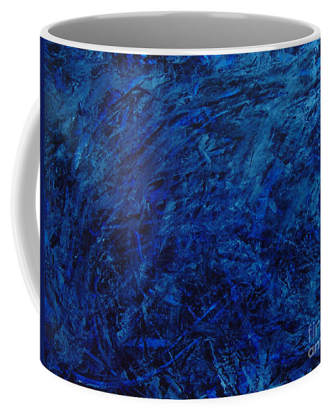 Abstract Coffee Mug featuring the painting Alans Call by Dean Triolo