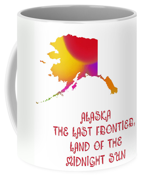 Andee Design Coffee Mug featuring the digital art Alaska State Map Collection 2 by Andee Design