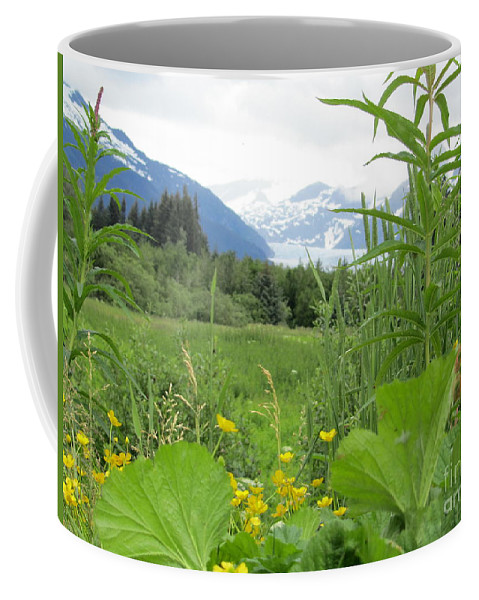Alaska Coffee Mug featuring the photograph Alaskan Glacier Beauty by Donna Jackson