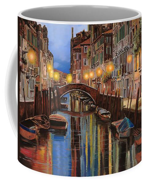 Venice Coffee Mug featuring the painting alba a Venezia by Guido Borelli