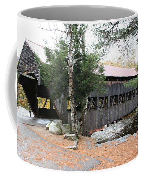 Covered Bridge Coffee Mug featuring the photograph Albany Covered Bridge by Christiane Schulze Art And Photography