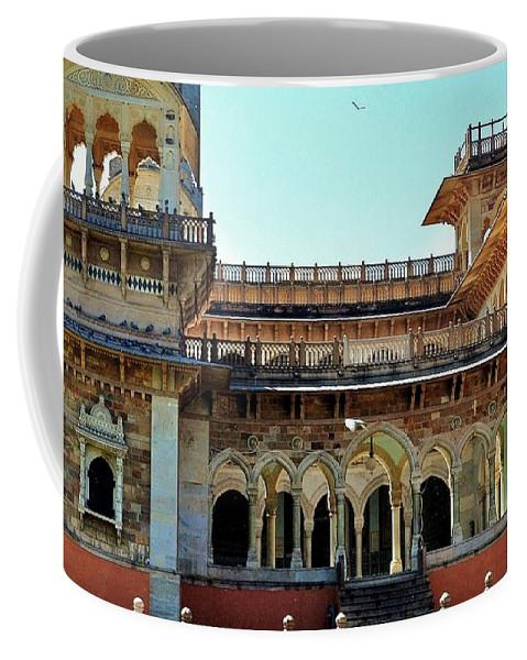 Door Coffee Mug featuring the photograph Albert Hall 2 - Jaipur India by Kim Bemis