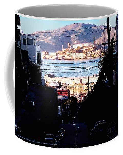 Architecture Coffee Mug featuring the photograph Alcatraz - So Close Yet So Far by Glenn Aker