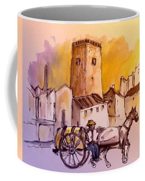 Travel Coffee Mug featuring the painting Alcazar De San Juan 01 by Miki De Goodaboom