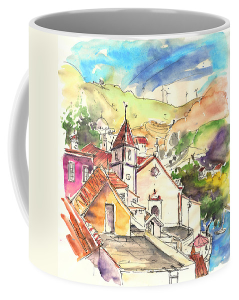 Portugal Coffee Mug featuring the painting Alcoutim In Portugal 07 by Miki De Goodaboom