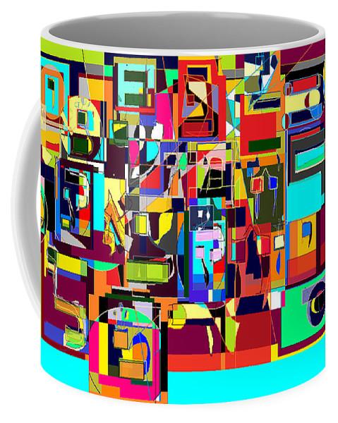 Coffee Mug featuring the digital art Alef Bais 1a by David Baruch Wolk