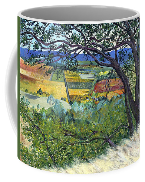 California Landscape Painting Coffee Mug featuring the painting Alexander Valley Vinyards by Asha Carolyn Young
