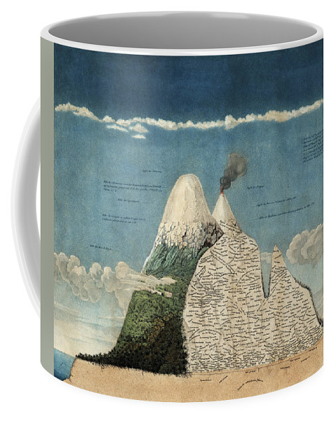 History Coffee Mug featuring the photograph Alexander Von Humboldts Chimborazo Map by Science Source