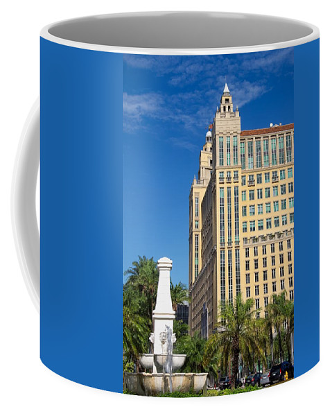 Alhambra Coffee Mug featuring the photograph Alhambra Towers - 1 by Rudy Umans