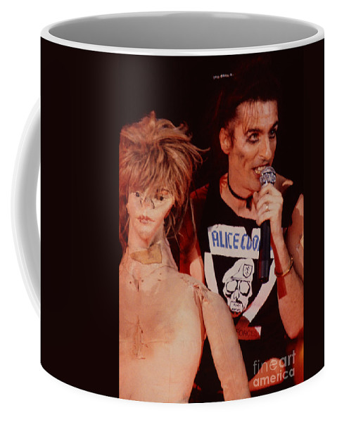 Alice Cooper Coffee Mug featuring the photograph Alice Cooper At The Concord Pavillion by Daniel Larsen
