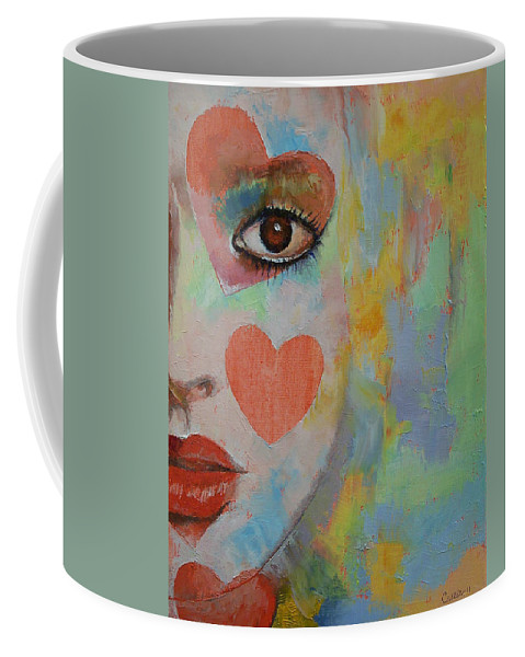 Michael Creese Coffee Mug featuring the painting Queen Of Hearts by Michael Creese