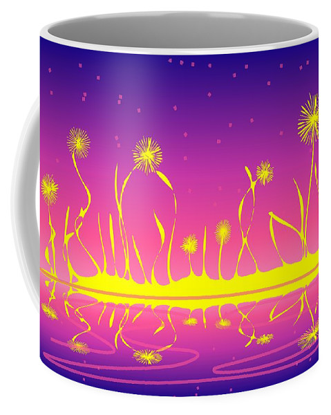 Malakhova Coffee Mug featuring the digital art Alien Fire Flowers by Anastasiya Malakhova