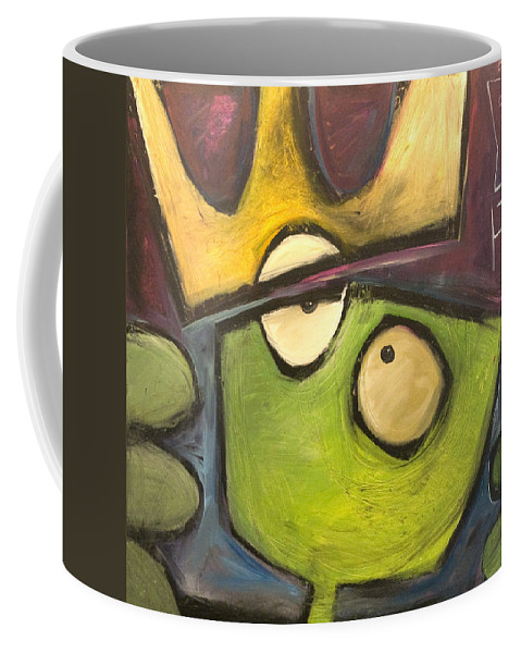 Alien Coffee Mug featuring the painting Alien King by Tim Nyberg