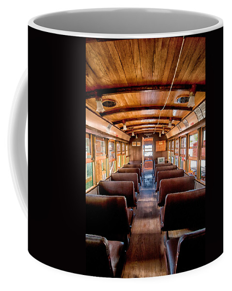 Train Coffee Mug featuring the photograph All Aboard by Cat Connor