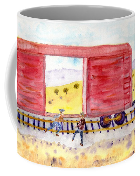 Jim Taylor Coffee Mug featuring the painting All Aboard by Jim Taylor