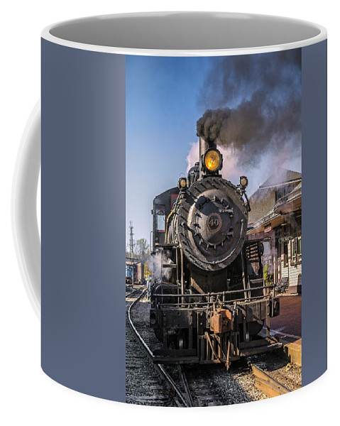 2-8-0 Coffee Mug featuring the photograph All Aboard by Susan Candelario