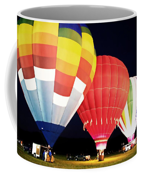 Hot Air Balloons Coffee Mug featuring the photograph All Blown Up by Alice Gipson