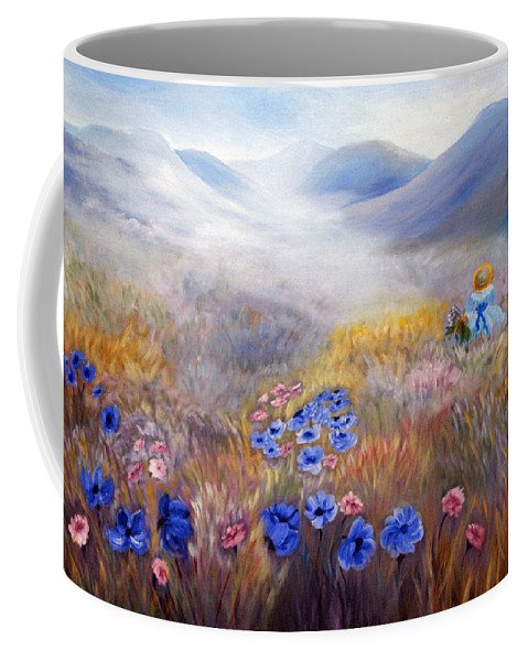 Field Coffee Mug featuring the painting All In A Dream - Impressionism by Georgiana Romanovna