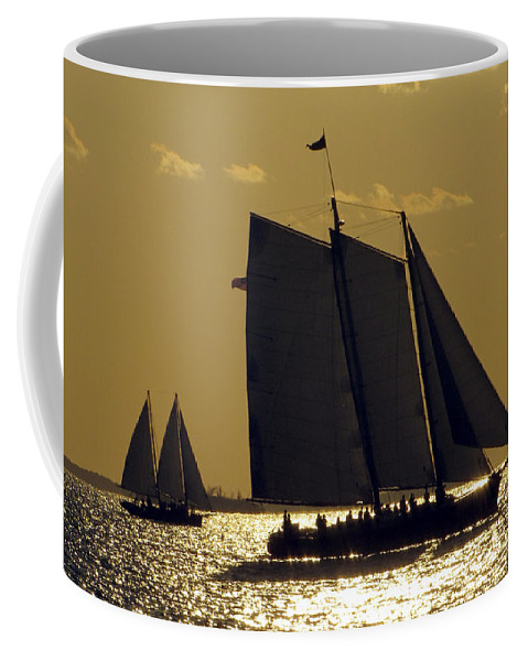 Sea Coffee Mug featuring the photograph All Sails Sunset In Key West by Bob Slitzan