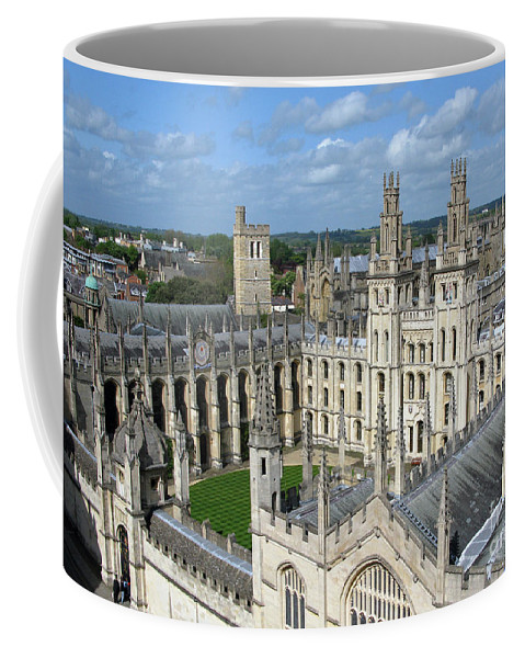 Oxford Coffee Mug featuring the photograph All Souls College by Ann Horn