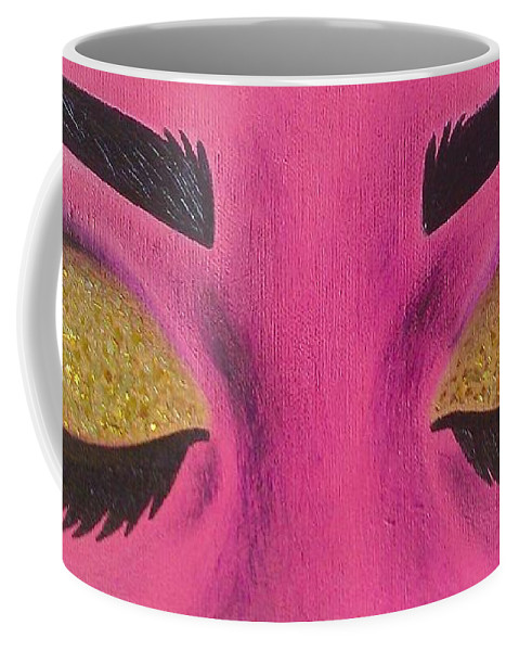 Eyes Coffee Mug featuring the painting All That Glitters by Briana Nickas