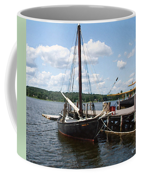 Landscape Coffee Mug featuring the painting All Tied Up by RC deWinter